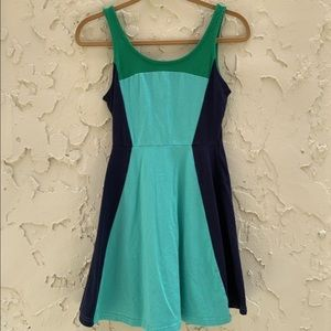 New Express Multi Color Tank Style Dress